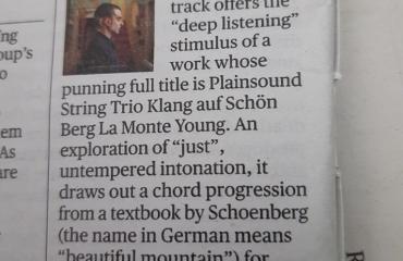Klang cd reviewed in the Sunday Times